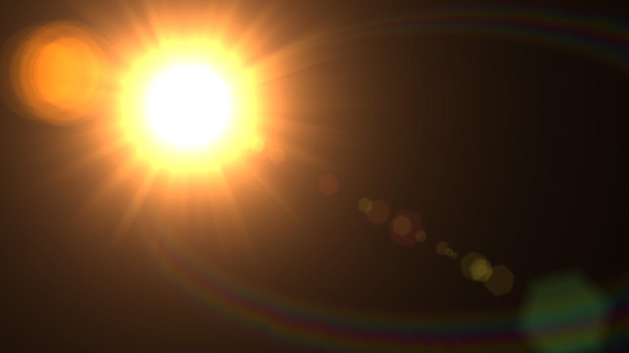 Как сделать такой эффект солнца